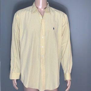 Polo Ralph Lauren Mens Yellow Button Down Shirt